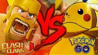Pokémon GO VS. Clash of Clans   Duelo de Titãs