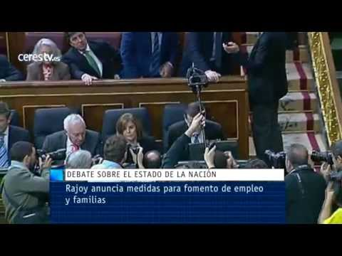 Debate: Rajoy anuncia medidas para el fomento de empleo y ayuda a las familias