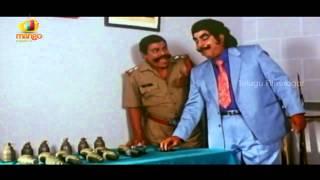 Kaikala Satyanarayana eats bullets and bombs - Yamaleela Movie Comedy Scenes - Ali