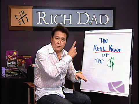 Robert Kiyosaki Explains - The Real Value Of The Dollar Gold Silver