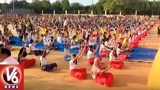 International Yoga Day Celebrations At Amberpet Municipal Grounds | Hyderabad