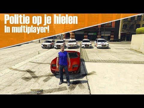 GTA Politie Op Je Hielen Multiplayer! - Ontsnappen aan 5 agenten in multiplayer!