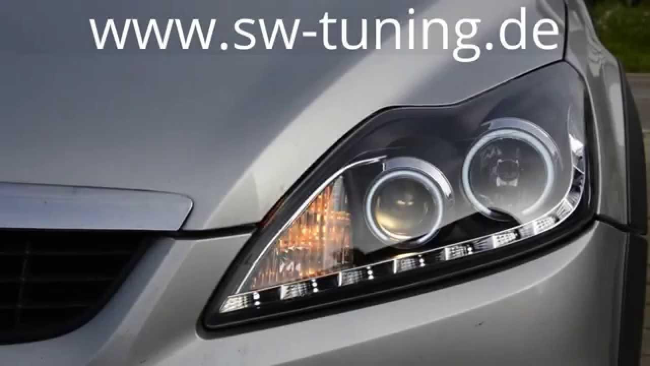 Soldout einbauvideo sw ccfl scheinwerfer ford focus mk2 da3 facelift sw tuning youtube