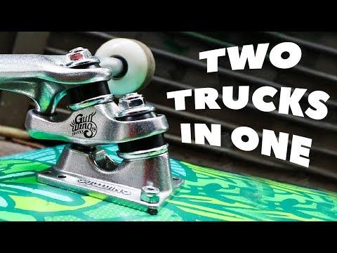 DOUBLE DECKER SKATEBOARD TRUCKS?!