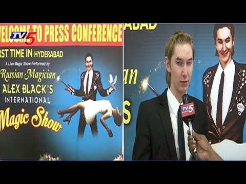 Russian Magician Alex Black's Magic Show at Hari Hara Kala Bhavan, Secunderabad | TV5 News