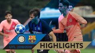 INTER 0-2 BARCELONA | HIGHLIGHTS | Matchday 04 - UEFA Youth League 2018/19