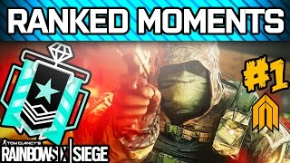 RAINBOW SIX SIEGE RANKED MOMENTS #1 - Diamond Ranked Squad