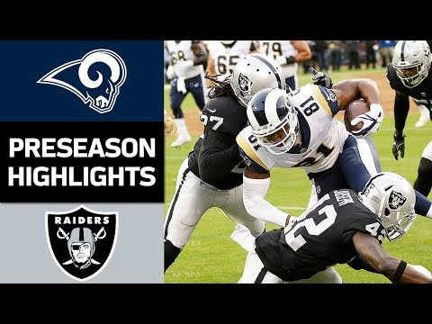 Rams Vs Raiders Nfl Preseason Week 2 Game Highlights