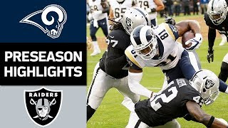Rams vs. Raiders  NFL Preseason Week 2 Game Highlights