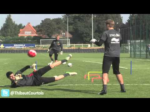 Thibaut Courtois @ training Red Devils.