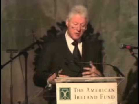President Clinton addresses the American Ireland Fund 35th Anniversary New York Gala