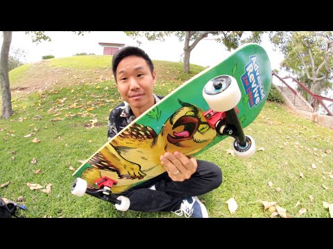 SETTING UP A BRAND NEW COMPLETE SKATEBOARD!
