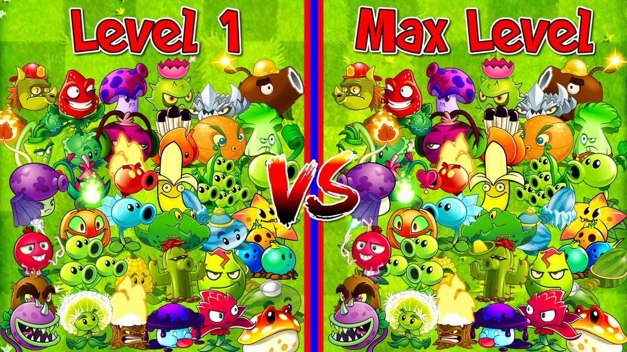 Every Plant Level 1 vs Max Level Plants vs Zombies 2 Newspaper Zombie