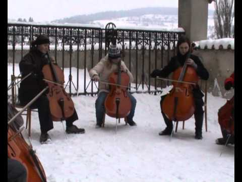 Greensleeves by Cello ensemble from Český Krumlov Music Videos