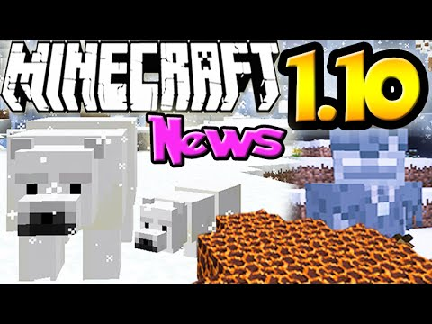 MINECRAFT 1.10 UPDATE NEWS: New Features, Mobs & Buildings!