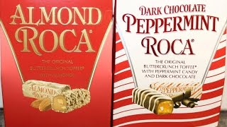 Brown & Haley Almond Roca and Dark Chocolate Peppermint Roca Review