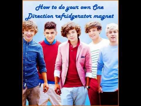 How to do your own One Direction refrigerator magnet!