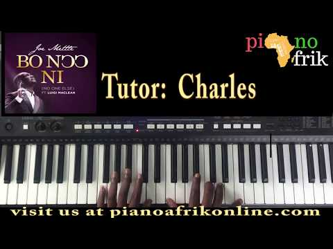 How to play  JOE METTLE- BO NOO NI FT LUIGI MACLEAN on the piano