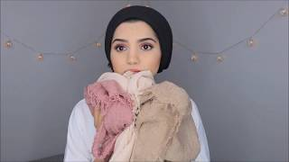 3 HIJAB STYLES USING COTTON MATERIAL | SAIMASCORNER
