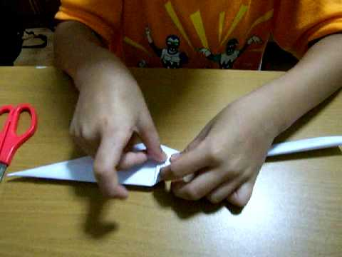 How to fold a Paper Kunai