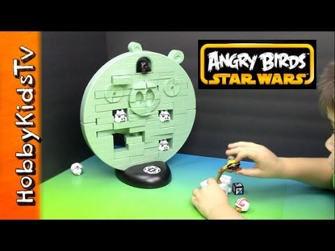 Angry Birds Star Wars Jenga Game - Toy Open. Review and Play- Hasbo