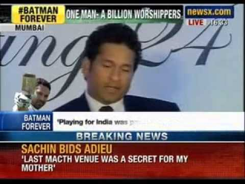 Sachin Tendulkar dedicates Bharat Ratna to all mothers in India - News X