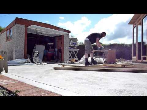 Great Dane unfazed by Power tools