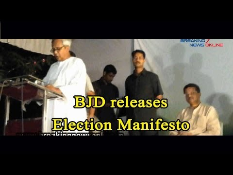 BJD releases Election Manifesto