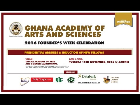 LIVE STREAM of GAAS 2016 Presidential Address & Induction of New Fellows