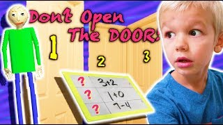 Don't Open the Wrong MYSTERY Door MEETS Baldi's Basics in Real Life!