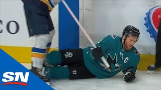 Joe Pavelski Leaves Game After Bone Crushing Hit From Alex Pietrangelo