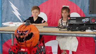 Eva & Andy's Meccano Pumpkinstein Presentation - Maker Faire NY 2018