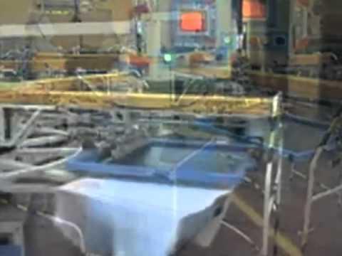 Carousel type textile screen printing machine