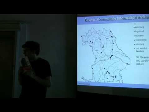 Open Data Informationsfreiheit Frankenplenum Vortrag 21.04.2012