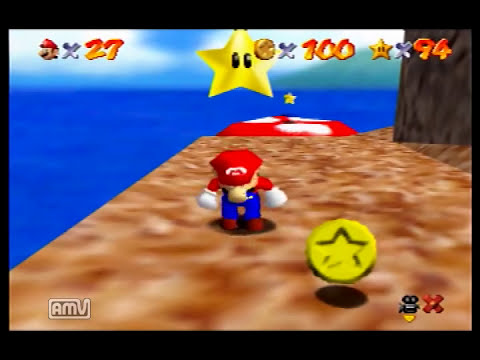Super mario 64 120star Speedrun 1:42:15.92 by nero