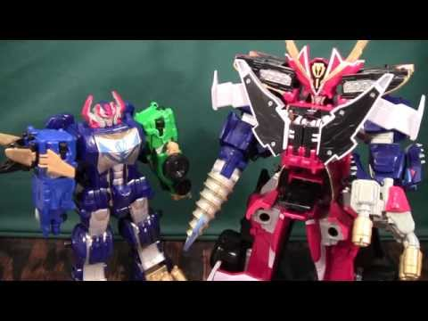 Power Rangers Super Megaforce Turbo Mega Falconzord Review (Machalcon. Ultimate Legendary Megazord)