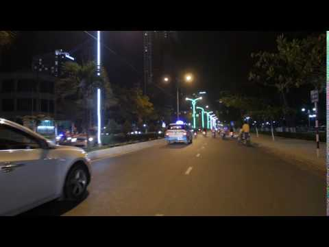 Night traffic on asian road, stock footage