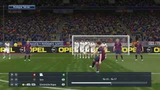 PES 2015 Messi Harika Frikik Golü | Barcelona - Real Madrid