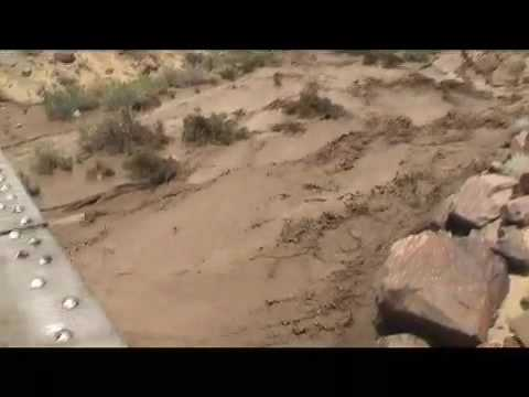 Flash flood in the Mojave Desert Video