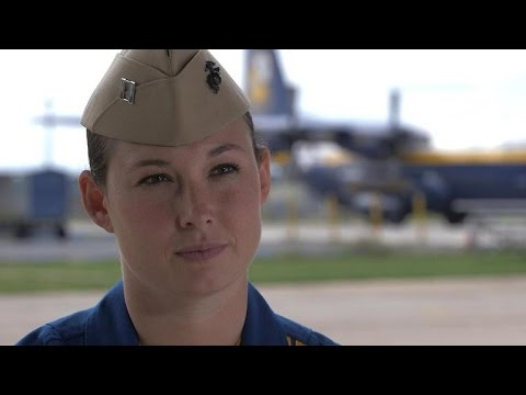 Blue Angels' first female pilot takes flight