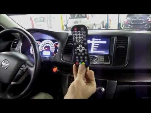 Nissan Teana 2011  Тв-тюнер, управление с тачскрина и руля