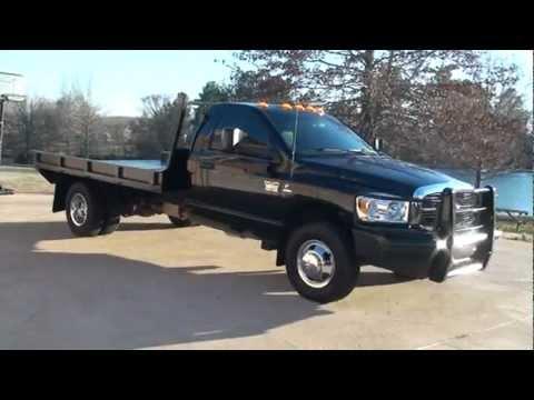 2010 Dodge Ram 3500 Slt Cummins Diesel 4x4 Flat Bed For
