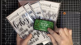 That's A Good Question Versafine Clair Inks Pigment on Silicone Stamps