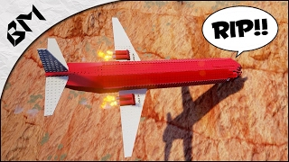 CRASHER UN AVION SUR UNE MONTAGNE (Crash-Test) (Brick Rigs)