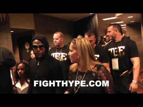 BEHIND THE MAYHEM PART 7: FLOYD MAYWEATHER HEADS TO POST-FIGHT PRESS CONFERENCE