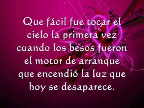 ricardo arjona y gaby moreno fuiste tu letra .wmv