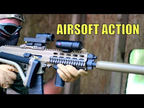 Airsoft War M60 Scar-L M16 AK47 The Fort Scotland HD