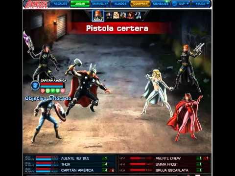 Jugando Marvel: Avengers Alliance Español Juego Facebook casi al 100% Letsplay