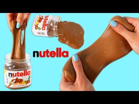 How to Make NUTELLA SLIME   DIY Fun & Easy Fake Dessert Prank!