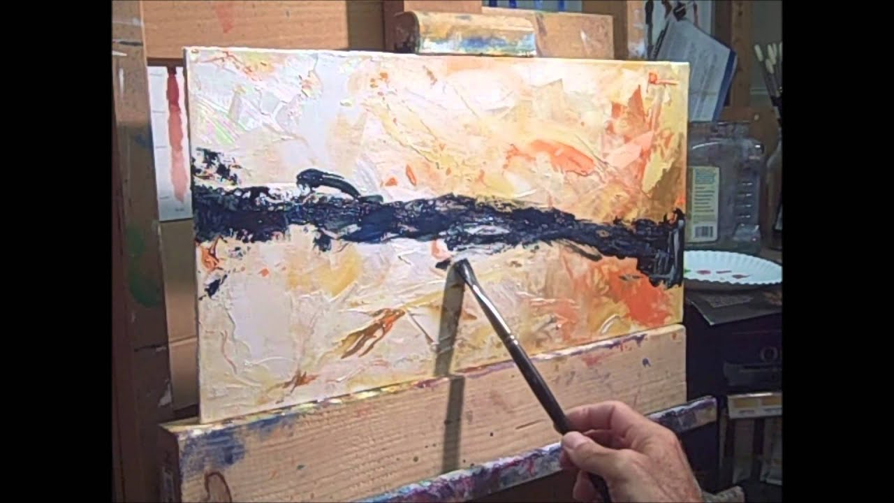 How To Paint An Abstract Oil Painting
